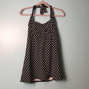 Lands' End size 2 Swim Dress Polka Dot.
